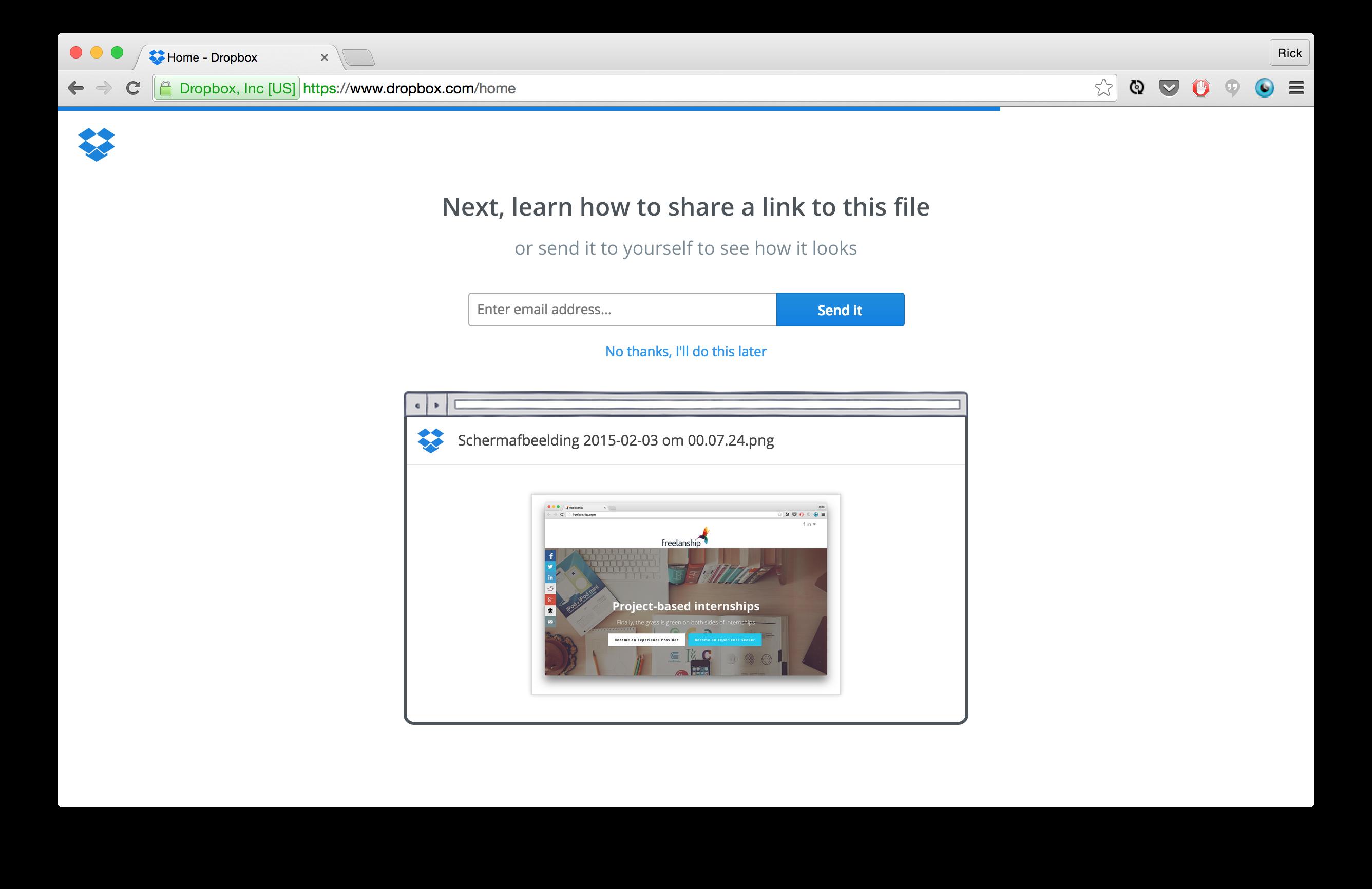 Dropbox Share File
