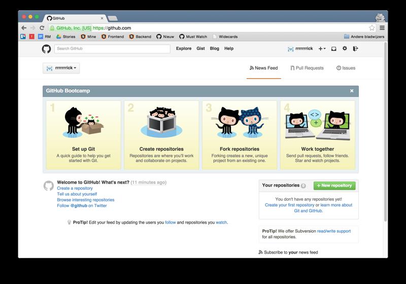 GitHub main feed