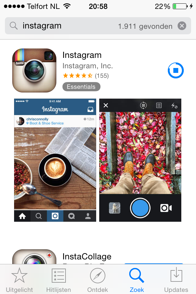 Instagram in App Store