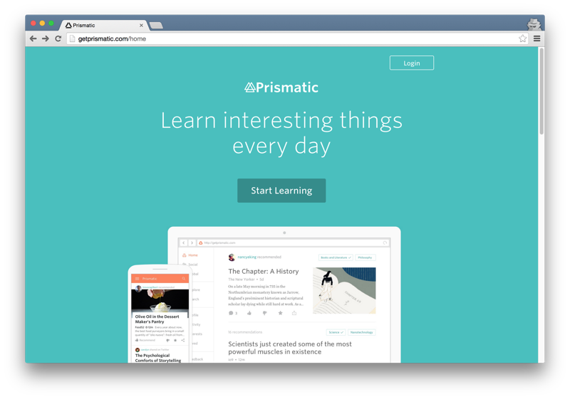Prismatic home page