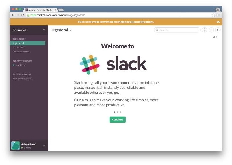 Slack welcome part 1