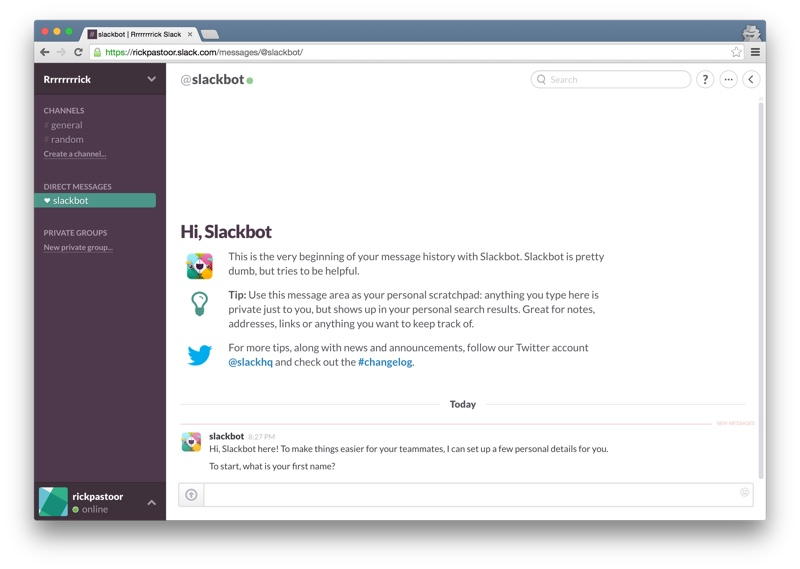 Slackbot introduction