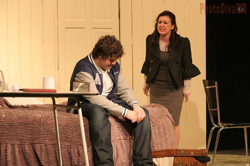 Preview show of The Graduate, 26 April - 5 May 2012 starring Philip Whittam, Tracy Higley, Anya Williment.