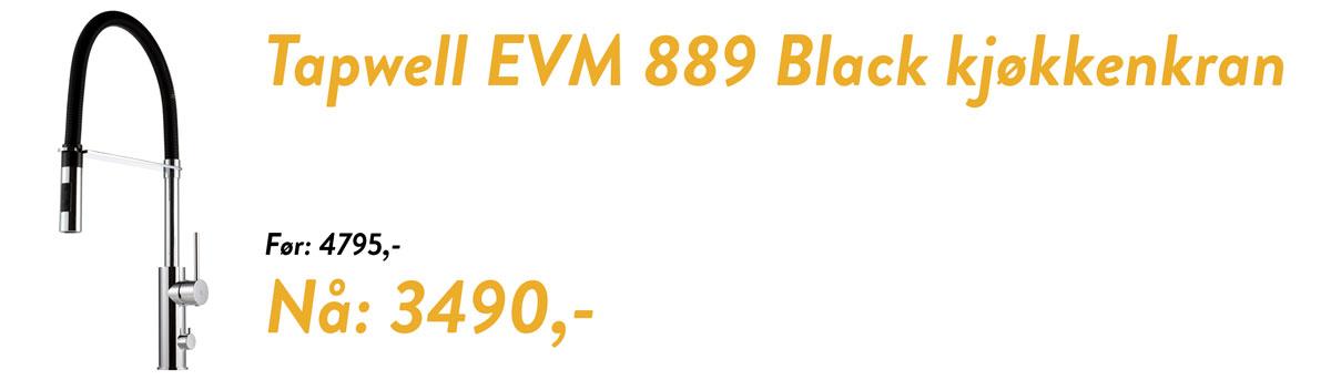 Tilbud på Tapwell EVO EVM889 Kjøkkenkran med hånddusj og avstengning for oppvaskmaskin!