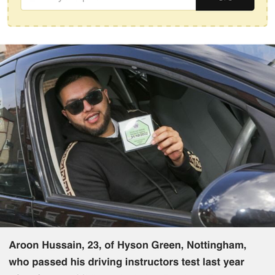 Aroon Hussain driving instructor