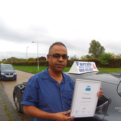 Tariq Musaji driving instructor
