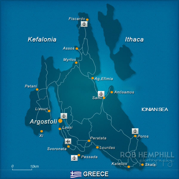 kefalonia map greece