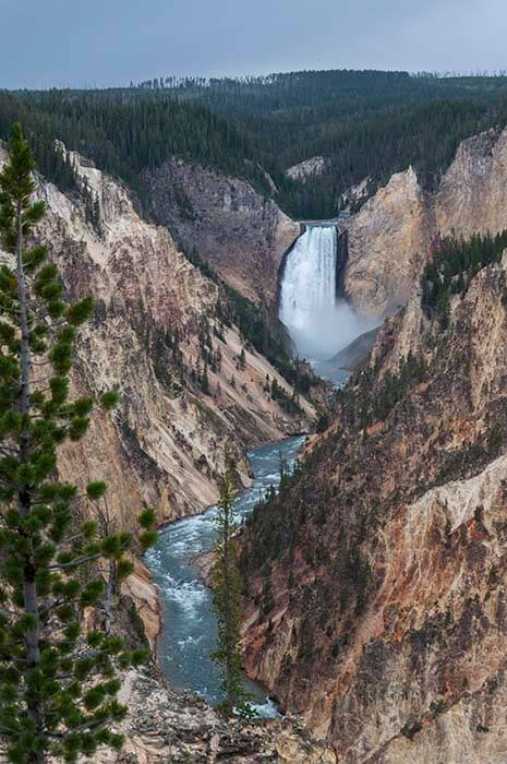 lower falls yellowstone park