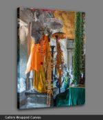 angkor wat temple buddha canvas