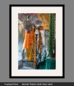angkor wat temple buddha framed print