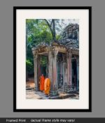 angkor wat buddhist temple framed print
