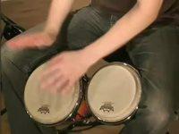 Guajira-biisi, soittoesimerkki (bongo)