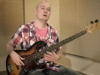 Kuudestoistaosien harjoittelua blues-riffillä G:stä