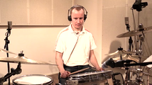 Hidas shuffle, soittoesimerkki (rummut)