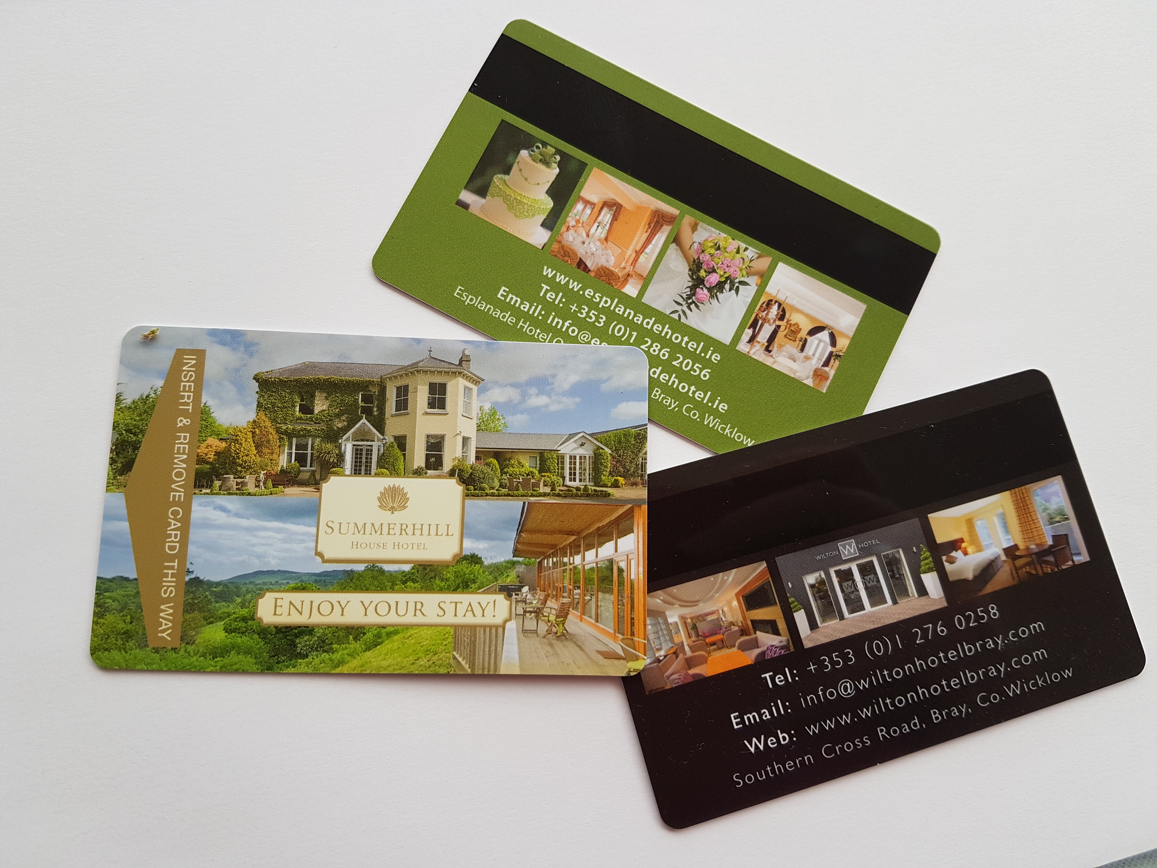 hotel room key cards printed by ross print greystones
