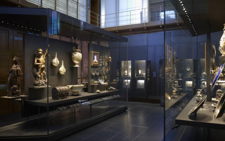 The Waddesdon Bequest Gallery at the British Museum - Glass cases holding Renaissance treasures in the Waddesdon Bequest room at the British Museum