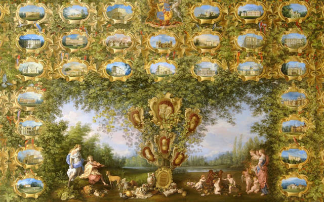 'A Family Tree of Rothschild Houses' painting by Jean-Marc Winckler