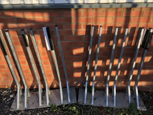 Wall sculling blade rack x2