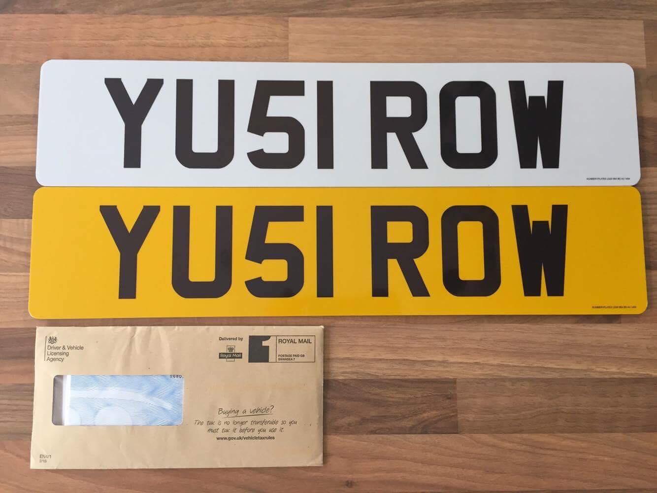 YU51 ROW private registration