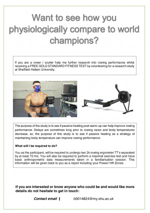 Participants needed for Rowing Research Study