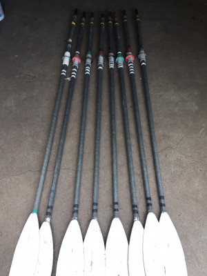 FOR SALE - set of 8 macon sculling blades