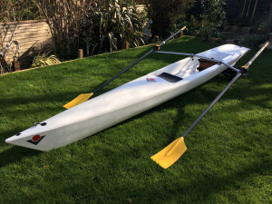 Coastal Rowing Skiff (Classic) plus carbon oars and trolley