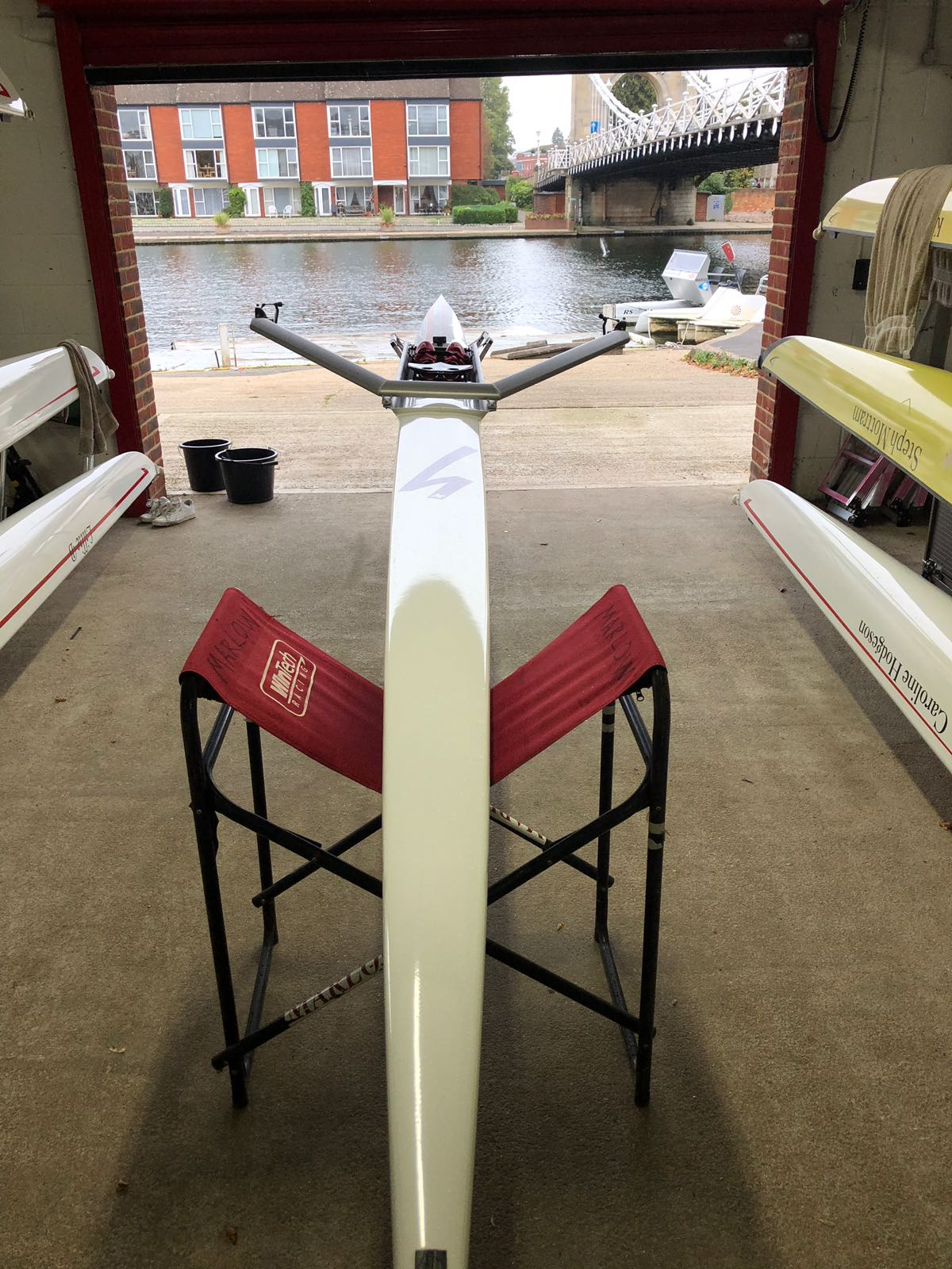 Stampfli S1  (75-85kg) For Sale with Concept 2 Blades, Boat bag and NK Speedcoach Gold