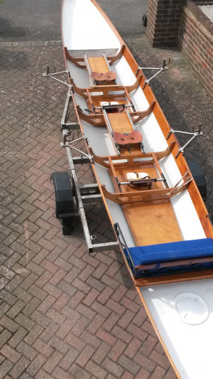 Coxed Pair/Double Scull Training/Touring Boat
