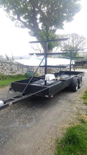 Lightweight river/ coastal boat trailer for sale.