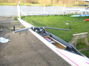 Filipi F15 1x Single Scull with Carbon Wing Rigger For Sale