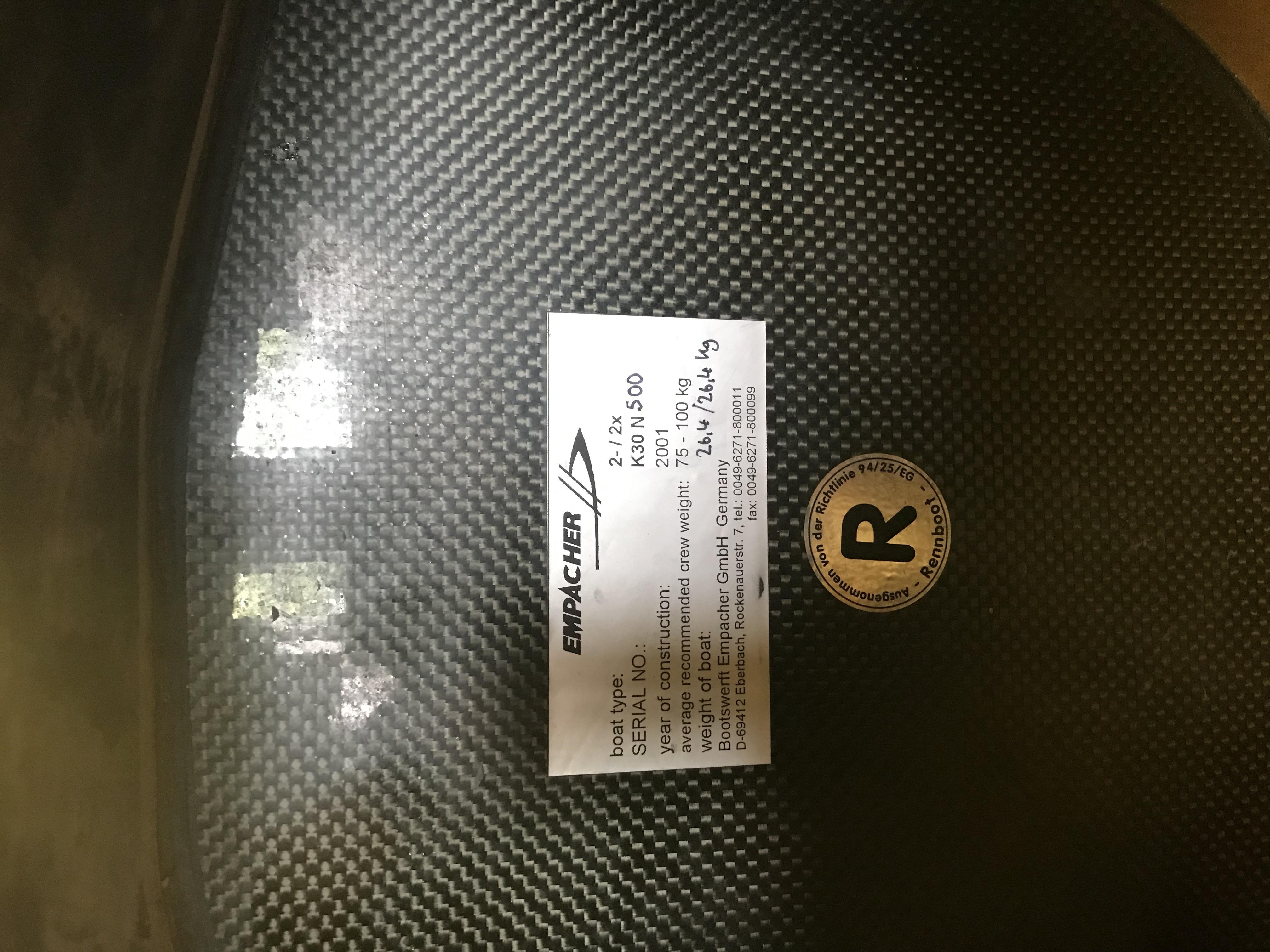 Empacher 2x- 2001 K30 (SOLD)