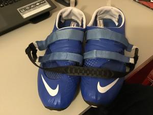 Pair of Blue Nike Omada 2 Rowing Shoes, Size UK 14/ US 15