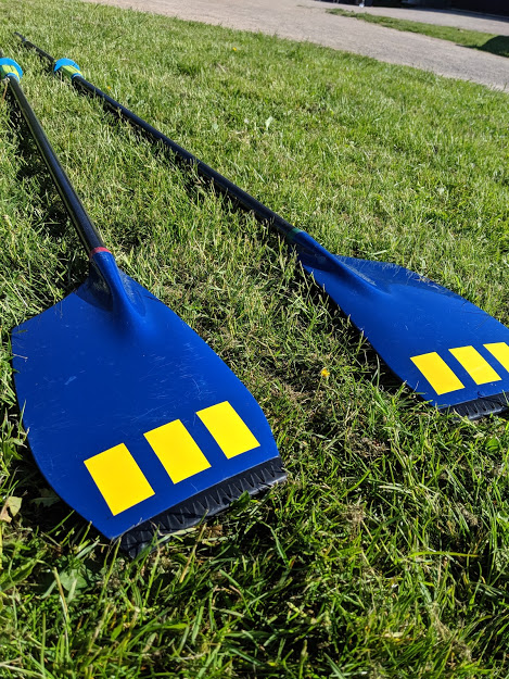 Sculling Blades and Speed Coach