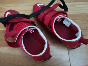 Nike Omada shoes and bat logic footplate