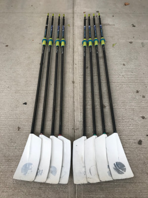 C2 Skinny Big Blade oars x8