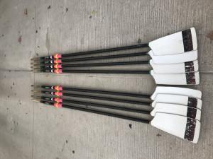 Croker oars, slick spoons x8