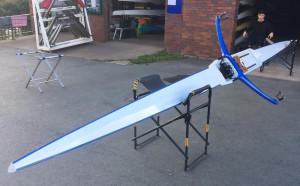 Swiss built 90kg single scull in fine condition WiM