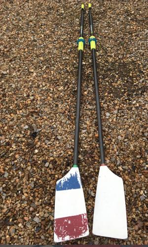 Concept 2 Smoothie2 Plain Edge sculling blades, green handles