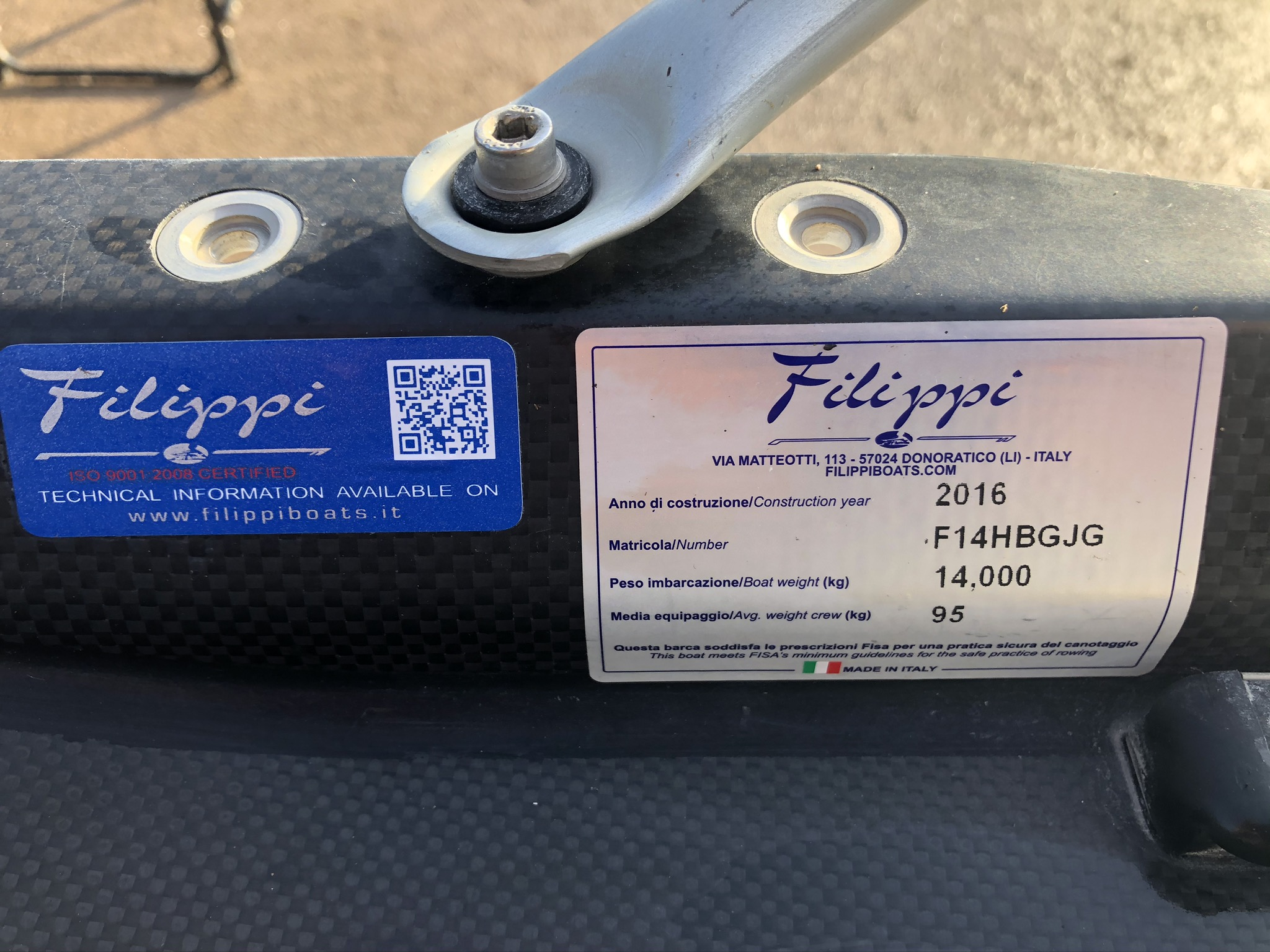 2016 Filippi F14 1X 95kgs