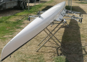 Lightweight double sculling boat