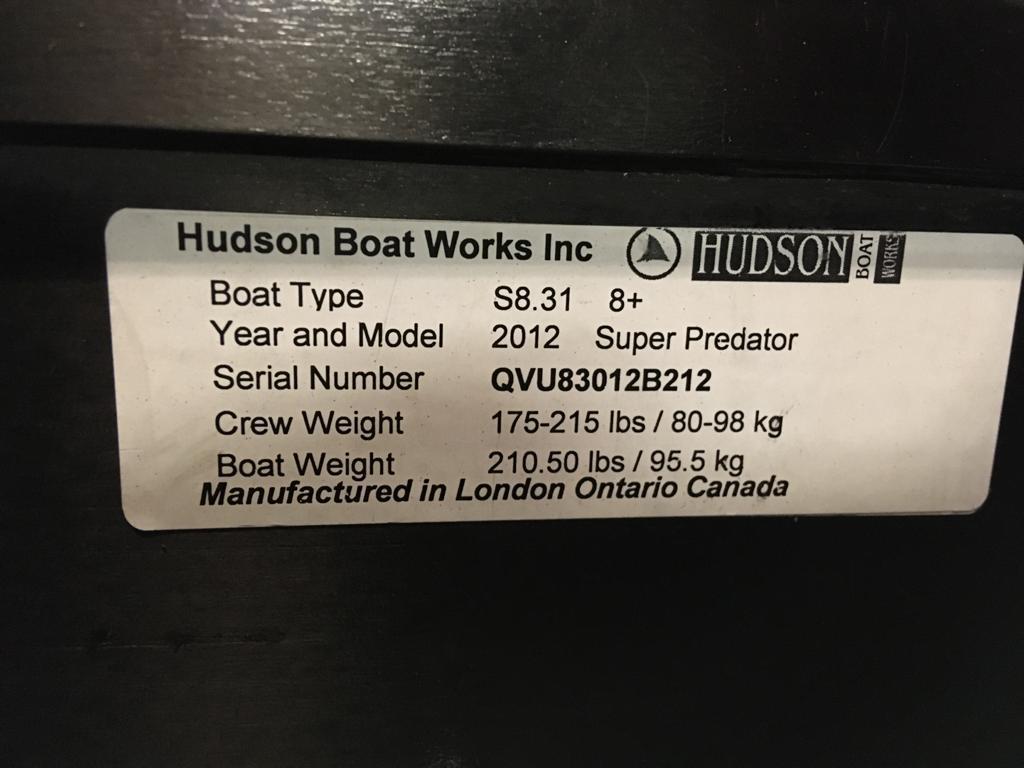 2012 S8.31 Hudson For Sale