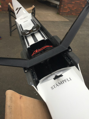 Immaculate Stampfli S1 with C2 sculls, 70-80kg