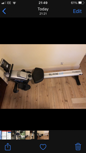 Bluefin Fitness Blade 2.0 rower for sale