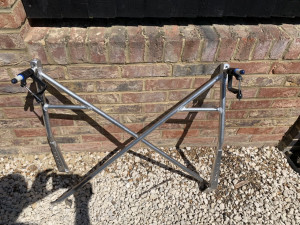Brand new pair of Eric Sims Gull wing sculling riggers
