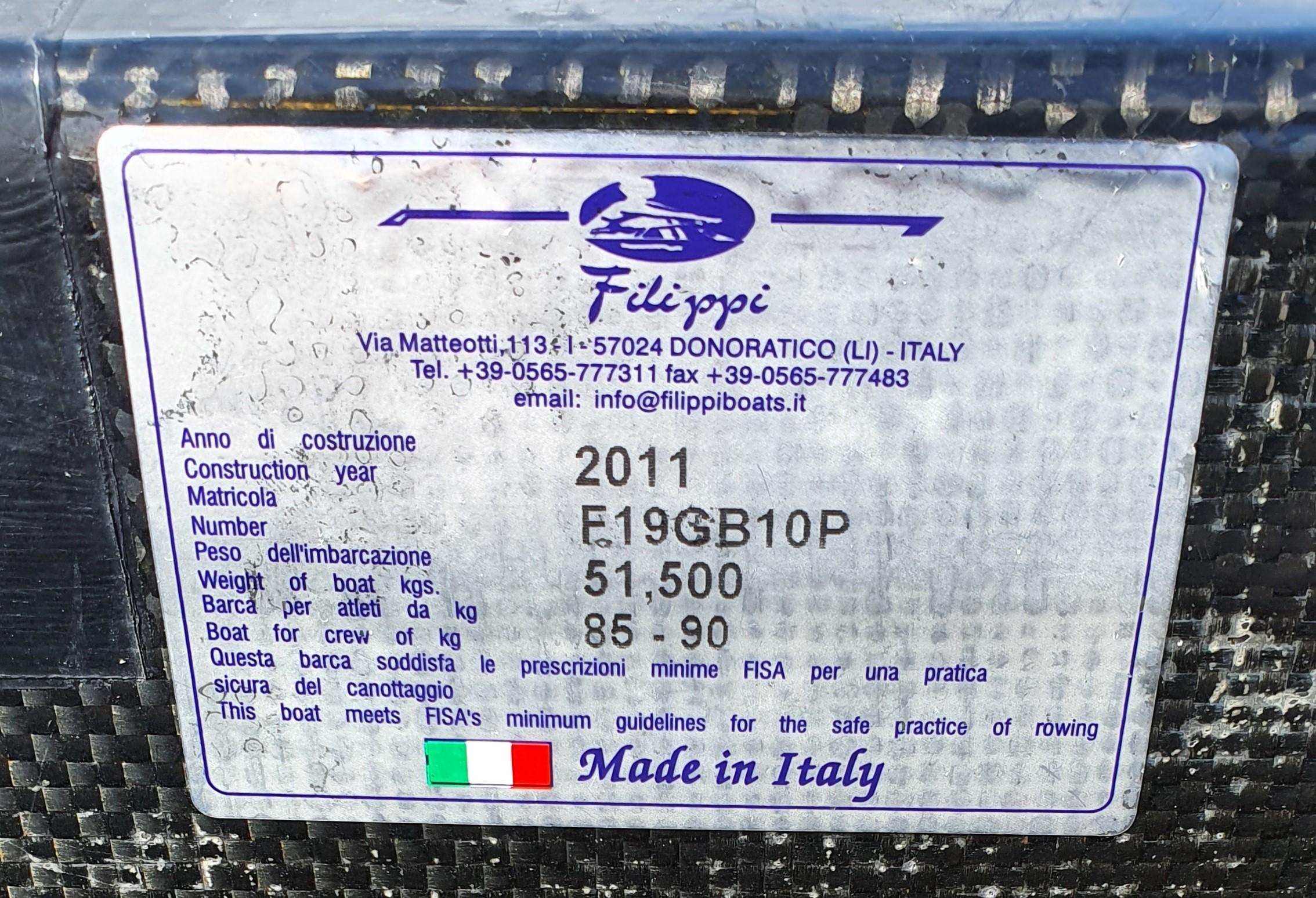 Filippi 4+ 85-95kg 2011