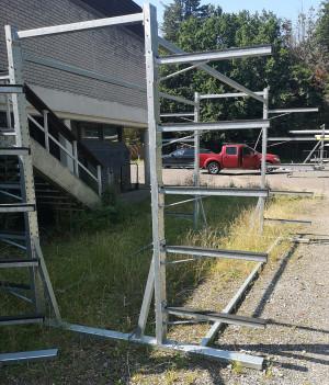 Galvanised steel boat racks