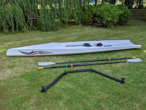 Single scull rowing boat for sale. Lite Boat brand.