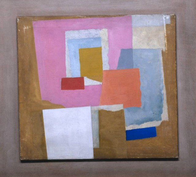 1924 (first abstract painting, Chelsea) circa 1923-4 by Ben Nicholson OM 1894-1982