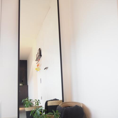 spiegel met zwarte lijst