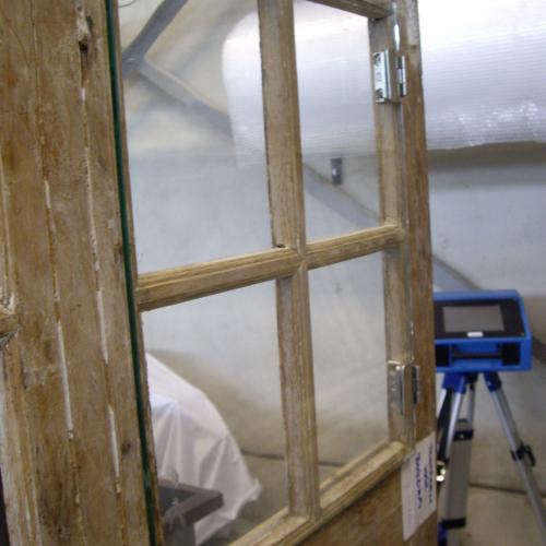 renovatie met hand getrokken glas  en voorzetramen